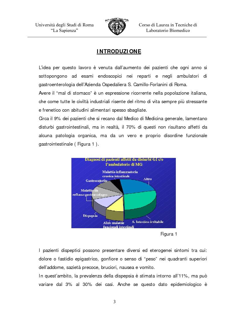 Anteprima della tesi: Gastropanel: un monitoraggio non invasivo della funzionalità della mucosa gastrica, Pagina 1