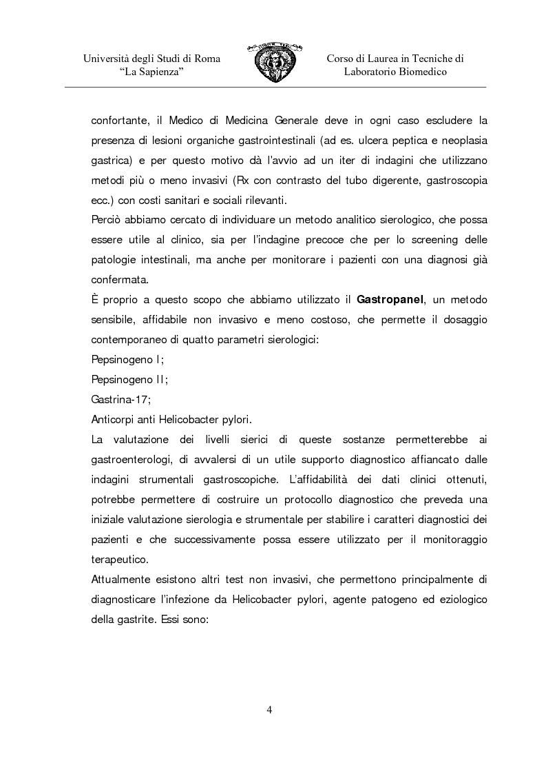 Anteprima della tesi: Gastropanel: un monitoraggio non invasivo della funzionalità della mucosa gastrica, Pagina 2