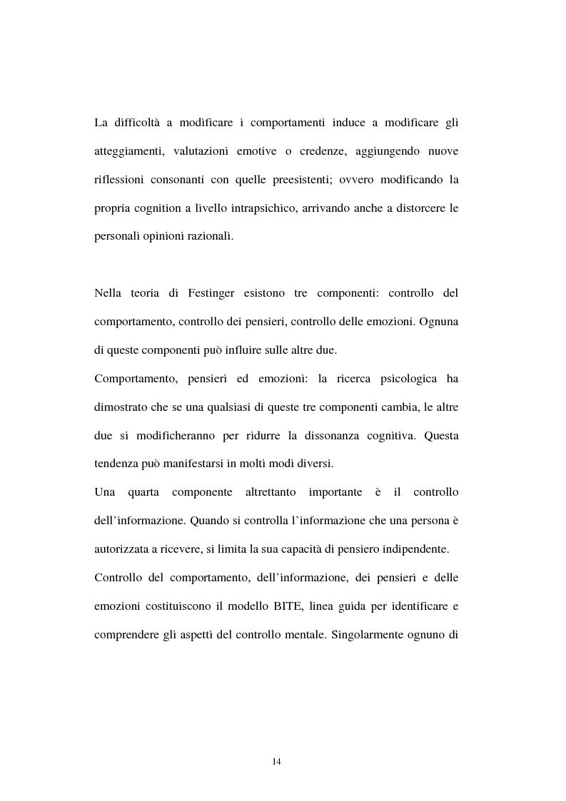 Anteprima della tesi: Dissonanza cognitiva: l'evoluzione della teoria e le possibili applicazioni, Pagina 10