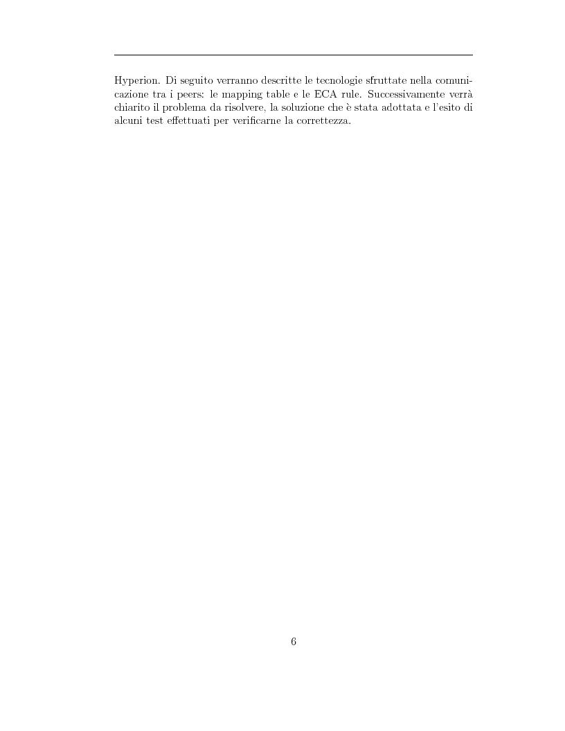 Anteprima della tesi: Aggiornamento dei dati in una rete peer-to-peer di database: il progetto Hyperion, Pagina 2