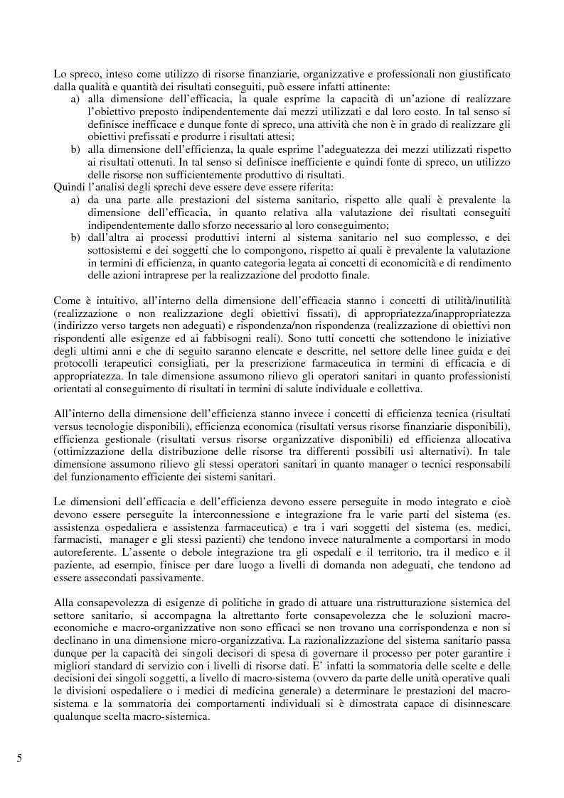 Anteprima della tesi: Il problema del controllo e del contenimento dei consumi e della spesa farmaceutica nel Sistema Sanitario Nazionale, con particolare riferimento alle iniziative della regione Emilia Romagna, Pagina 3