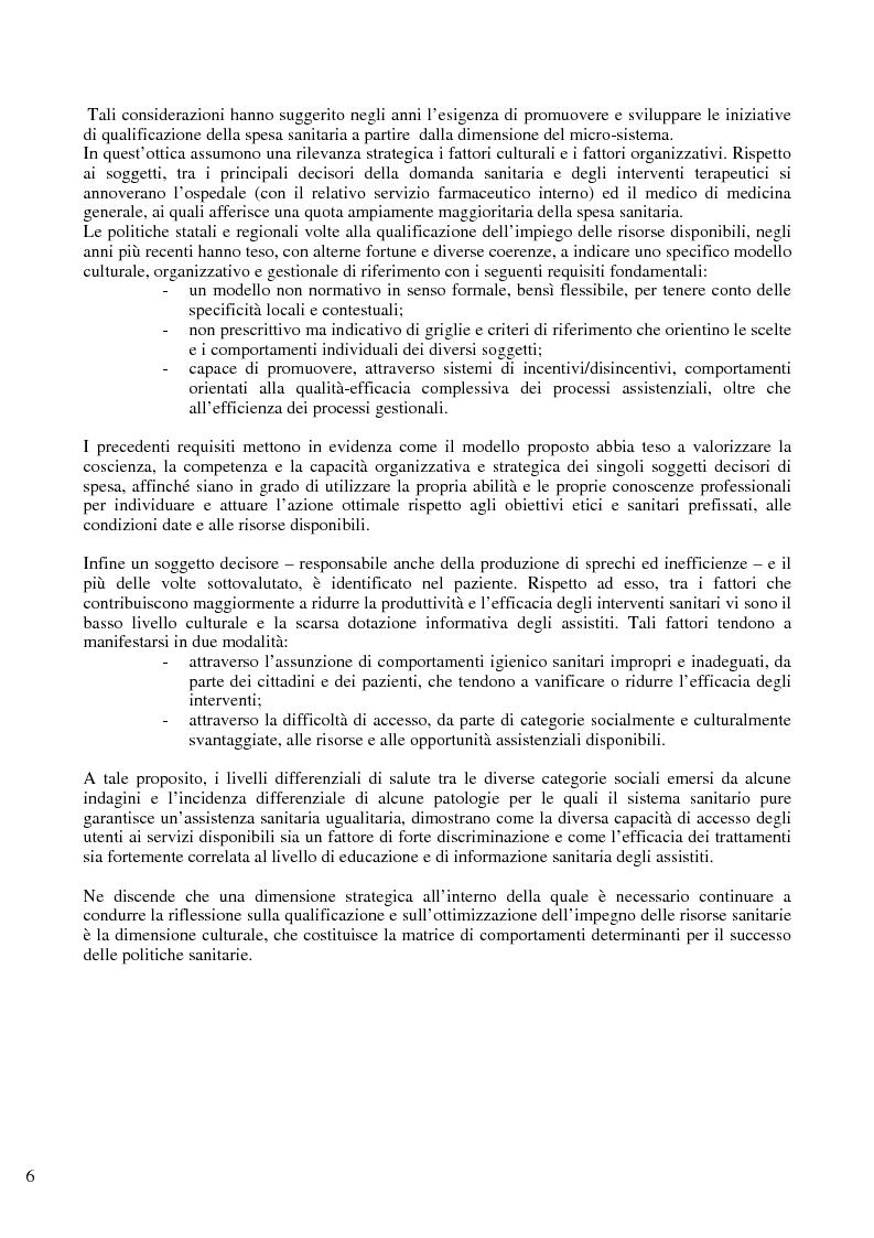 Anteprima della tesi: Il problema del controllo e del contenimento dei consumi e della spesa farmaceutica nel Sistema Sanitario Nazionale, con particolare riferimento alle iniziative della regione Emilia Romagna, Pagina 4