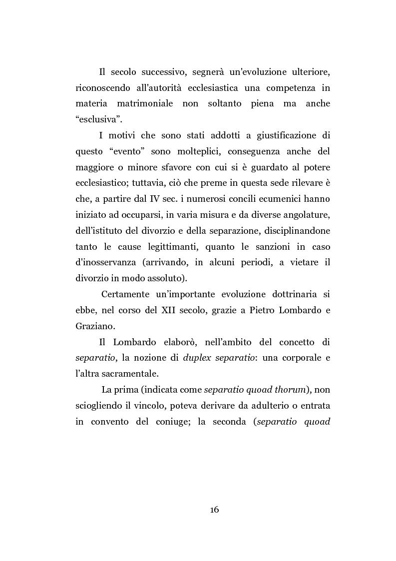 Anteprima della tesi: La separazione dei coniugi manente vinculo, Pagina 10