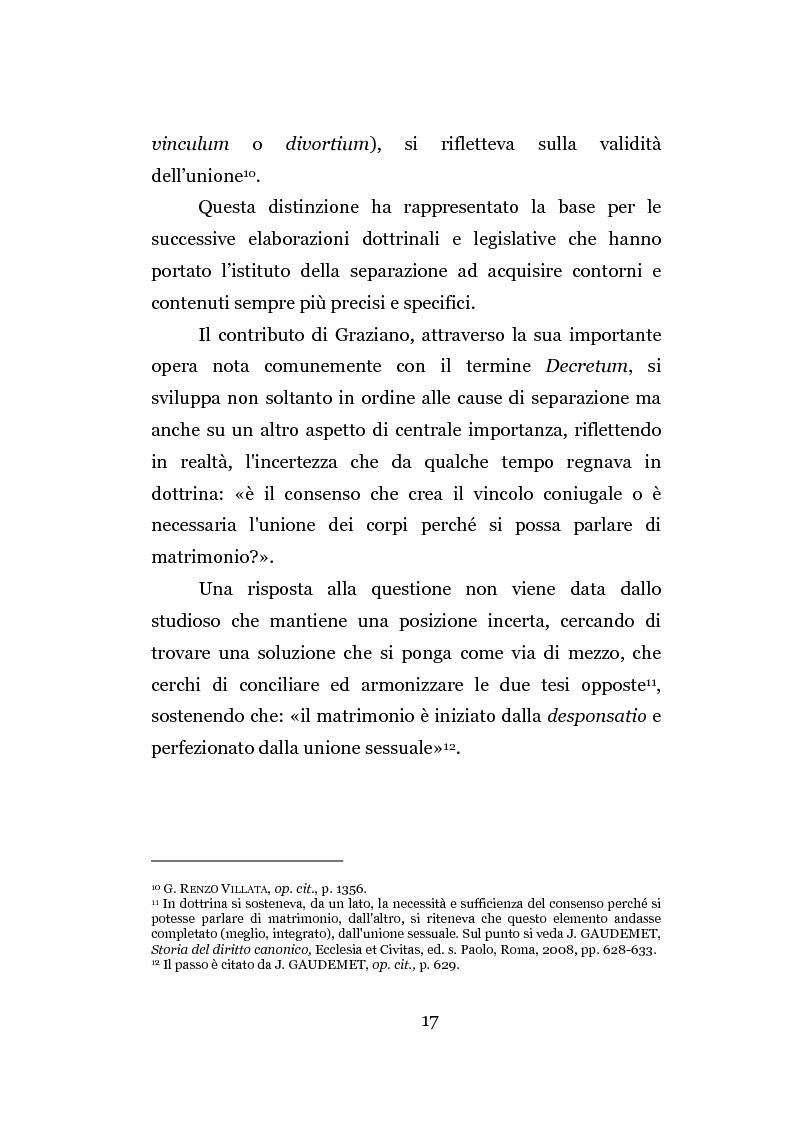 Anteprima della tesi: La separazione dei coniugi manente vinculo, Pagina 11