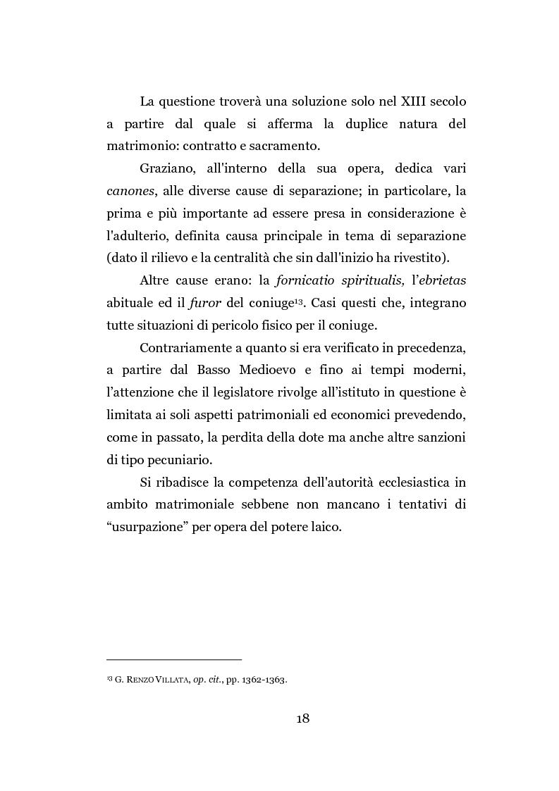 Anteprima della tesi: La separazione dei coniugi manente vinculo, Pagina 12