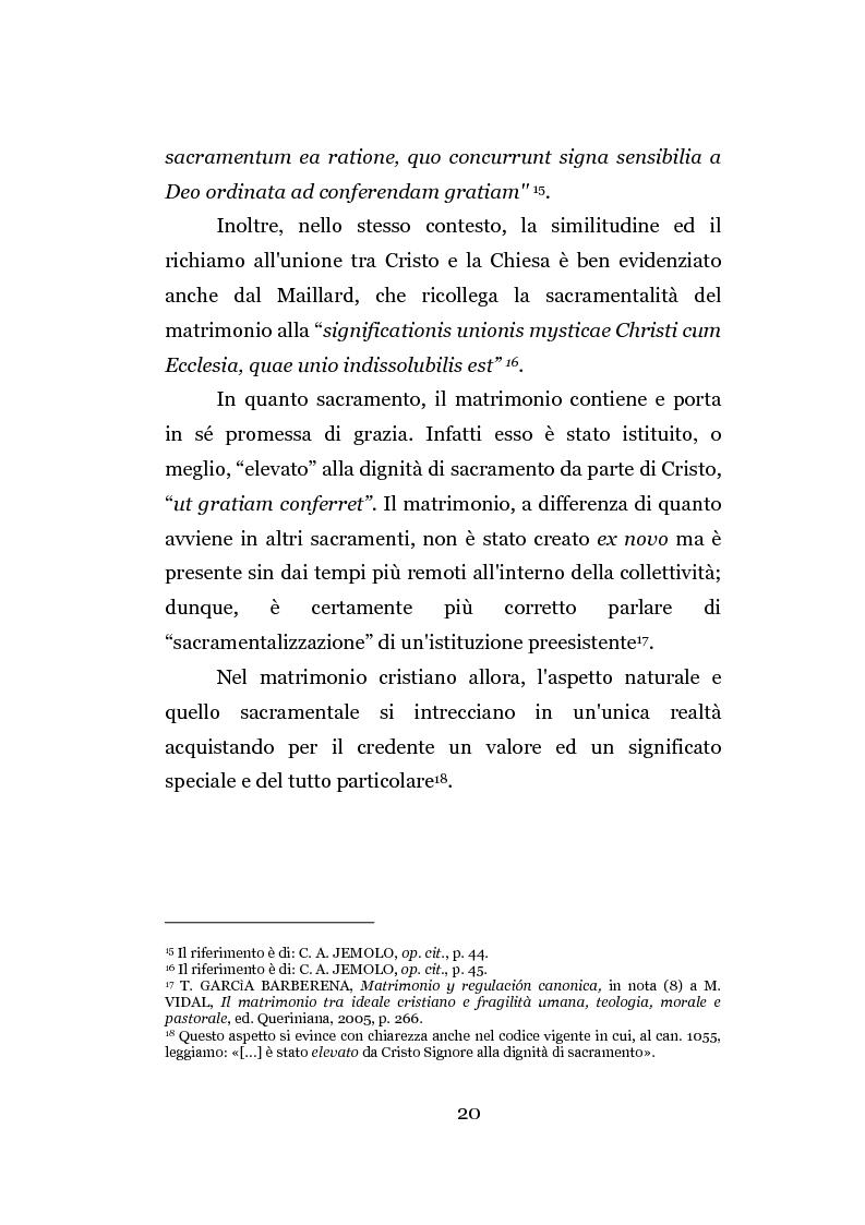 Anteprima della tesi: La separazione dei coniugi manente vinculo, Pagina 14