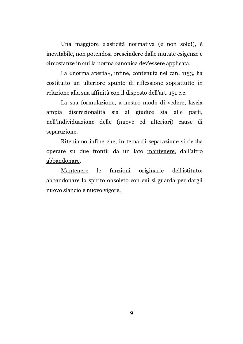 Anteprima della tesi: La separazione dei coniugi manente vinculo, Pagina 3