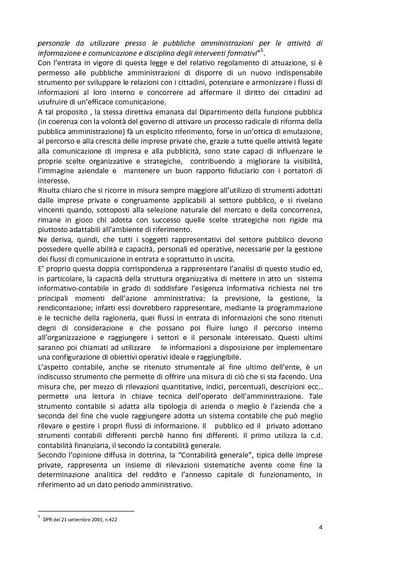 Anteprima della tesi: La capacità informativa del sistema contabile degli enti locali. Il caso del comune di Quartu Sant'Elena., Pagina 5