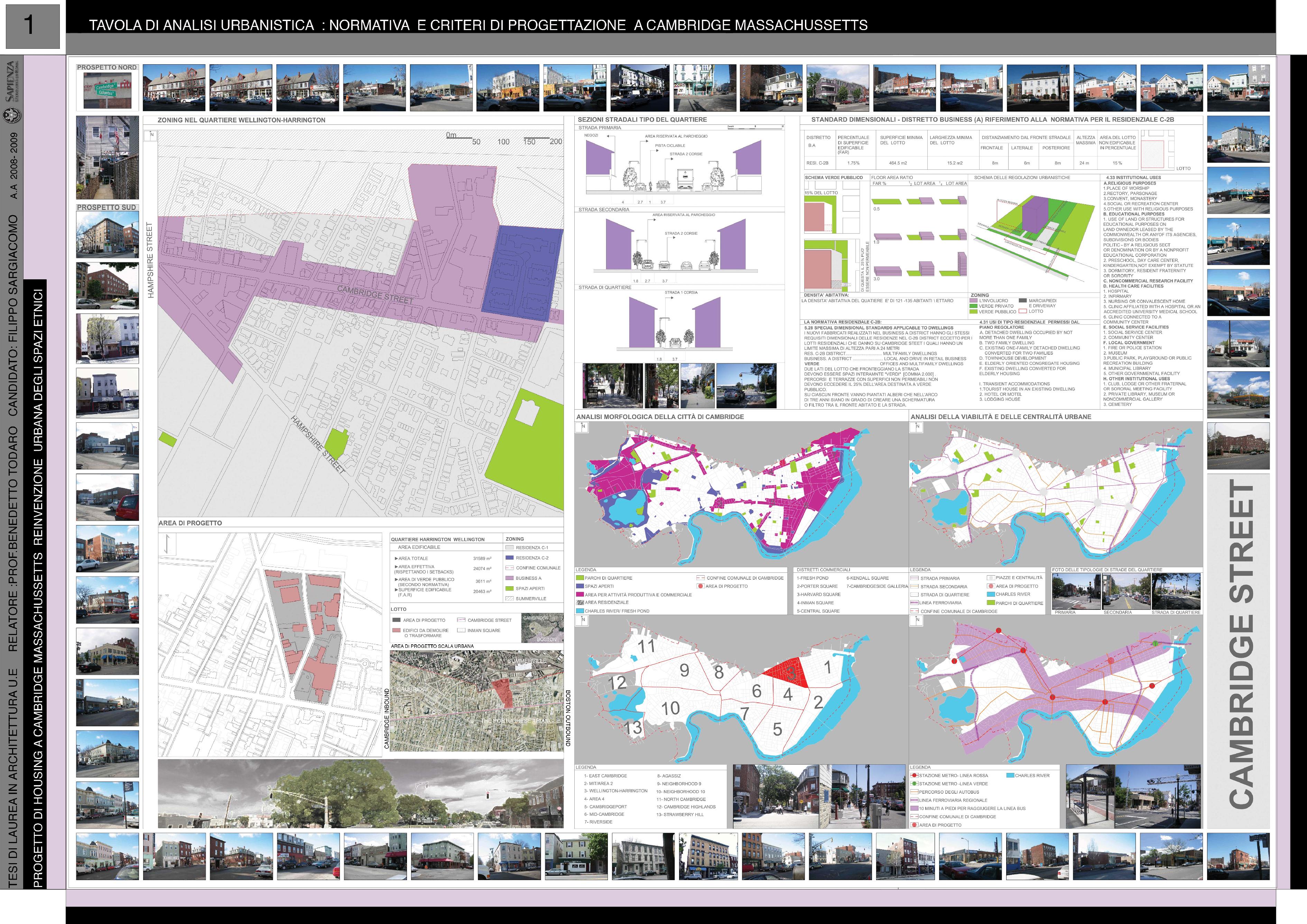 Anteprima della tesi: Progetto di Housing a Cambridge Massachusetts: Reinvenzione Urbana degli Spazi Etnici, Pagina 1