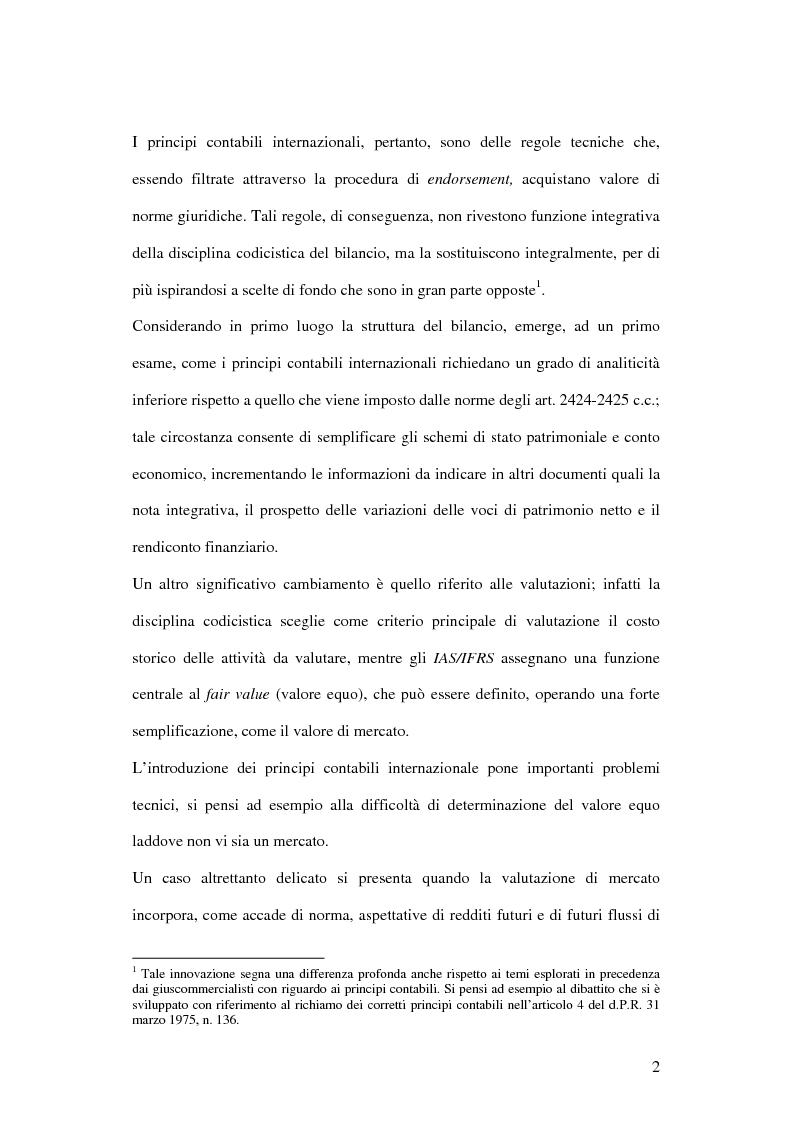 Anteprima della tesi: Profili innovativi e problematiche giuridiche inerenti ai principi contabili internazionali. Il caso degli strumenti finanziari., Pagina 2