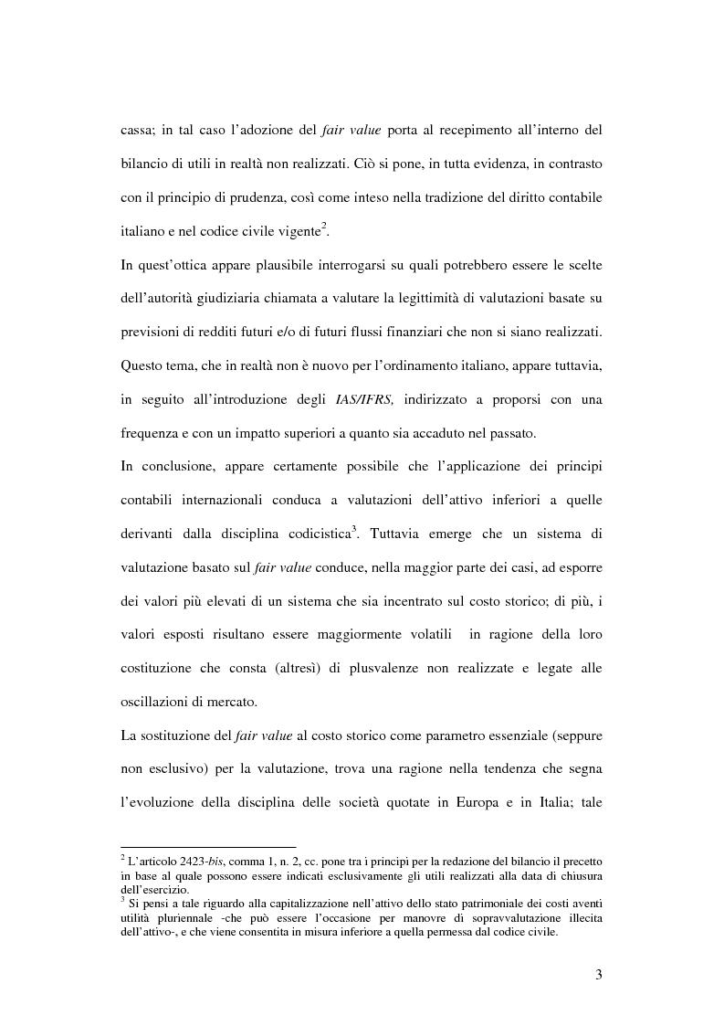 Anteprima della tesi: Profili innovativi e problematiche giuridiche inerenti ai principi contabili internazionali. Il caso degli strumenti finanziari., Pagina 3
