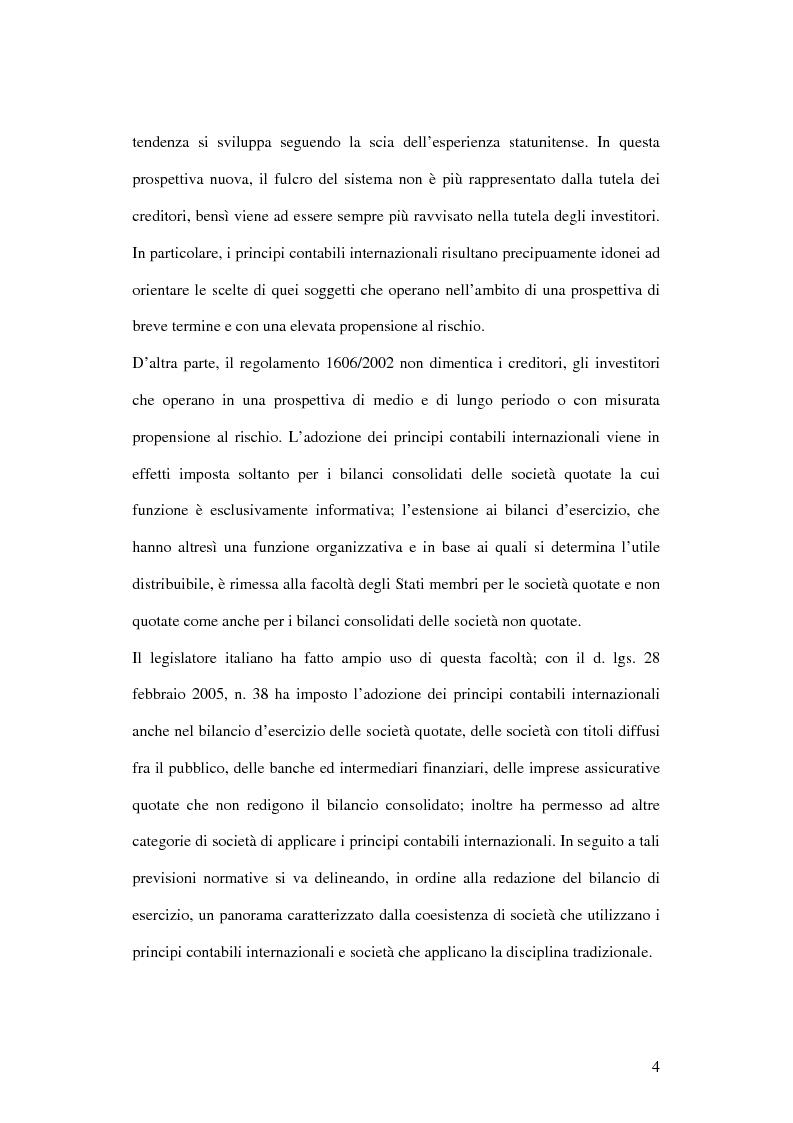 Anteprima della tesi: Profili innovativi e problematiche giuridiche inerenti ai principi contabili internazionali. Il caso degli strumenti finanziari., Pagina 4