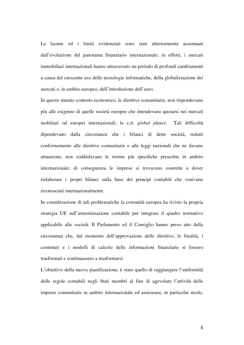 Anteprima della tesi: Profili innovativi e problematiche giuridiche inerenti ai principi contabili internazionali. Il caso degli strumenti finanziari., Pagina 8