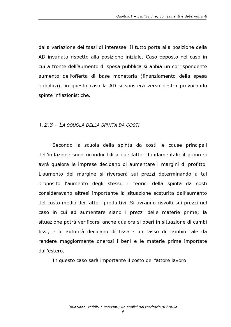 Anteprima della tesi: Inflazione redditi e consumi; un'analisi sul territorio di Aprilia, Pagina 12