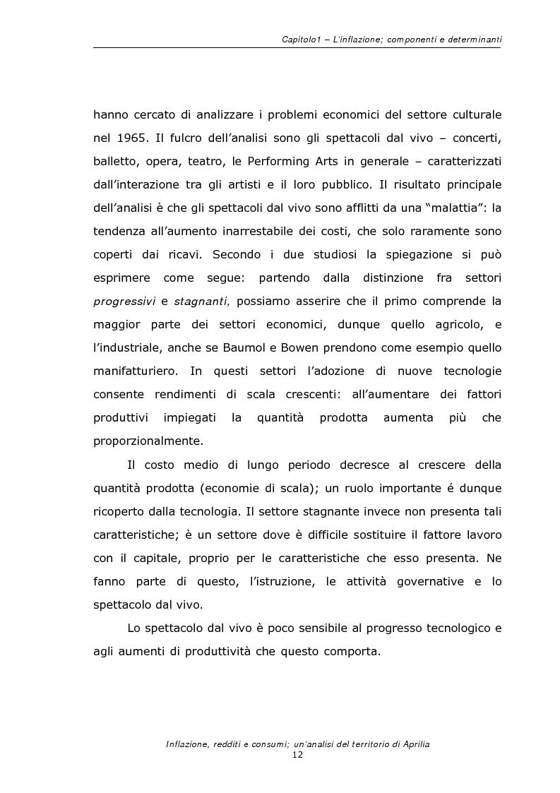 Anteprima della tesi: Inflazione redditi e consumi; un'analisi sul territorio di Aprilia, Pagina 15