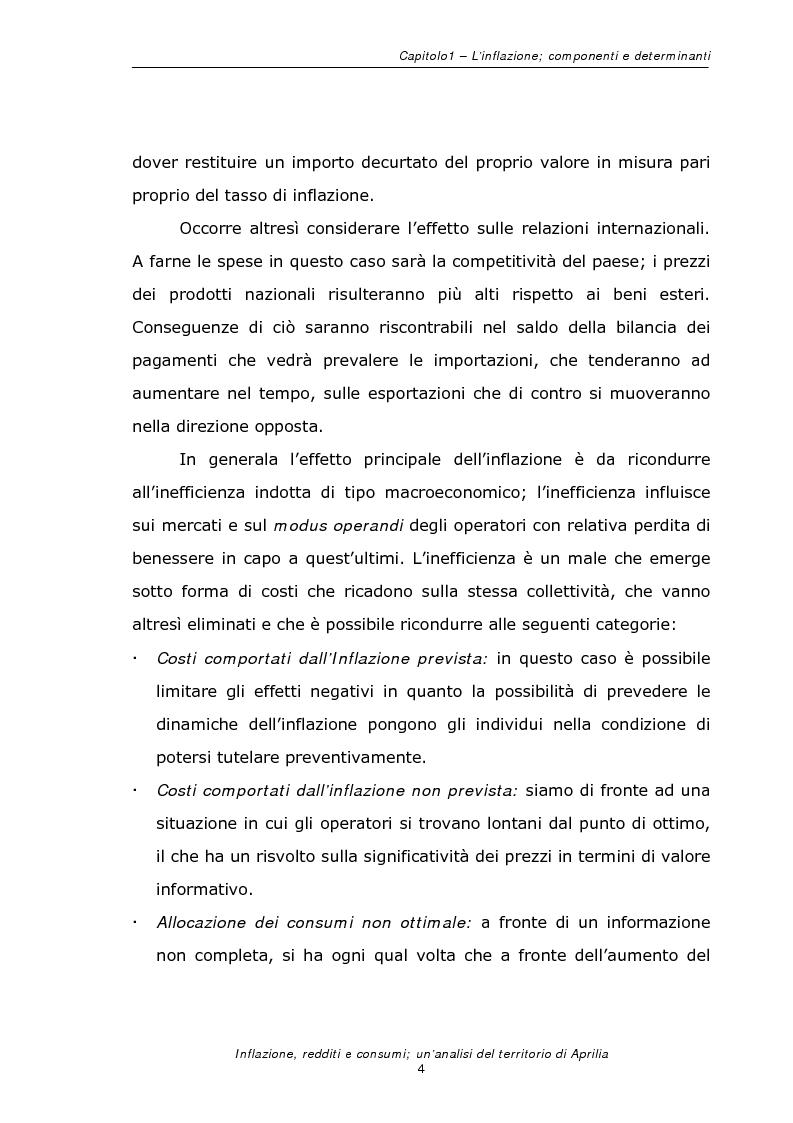 Anteprima della tesi: Inflazione redditi e consumi; un'analisi sul territorio di Aprilia, Pagina 7