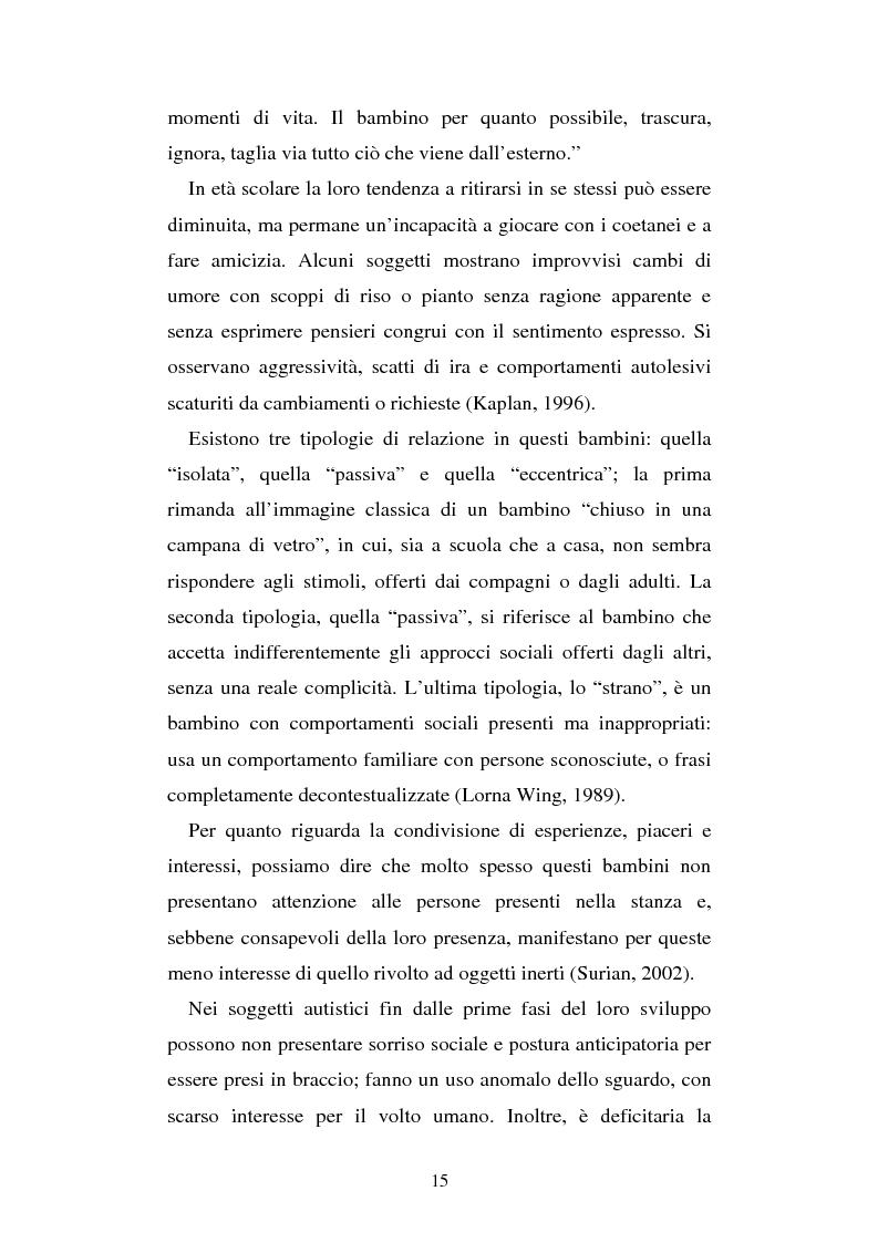 Anteprima della tesi: Autismo e gioco - Osservazione e terapia nei bambini con uso della comunicazione verbale, Pagina 11