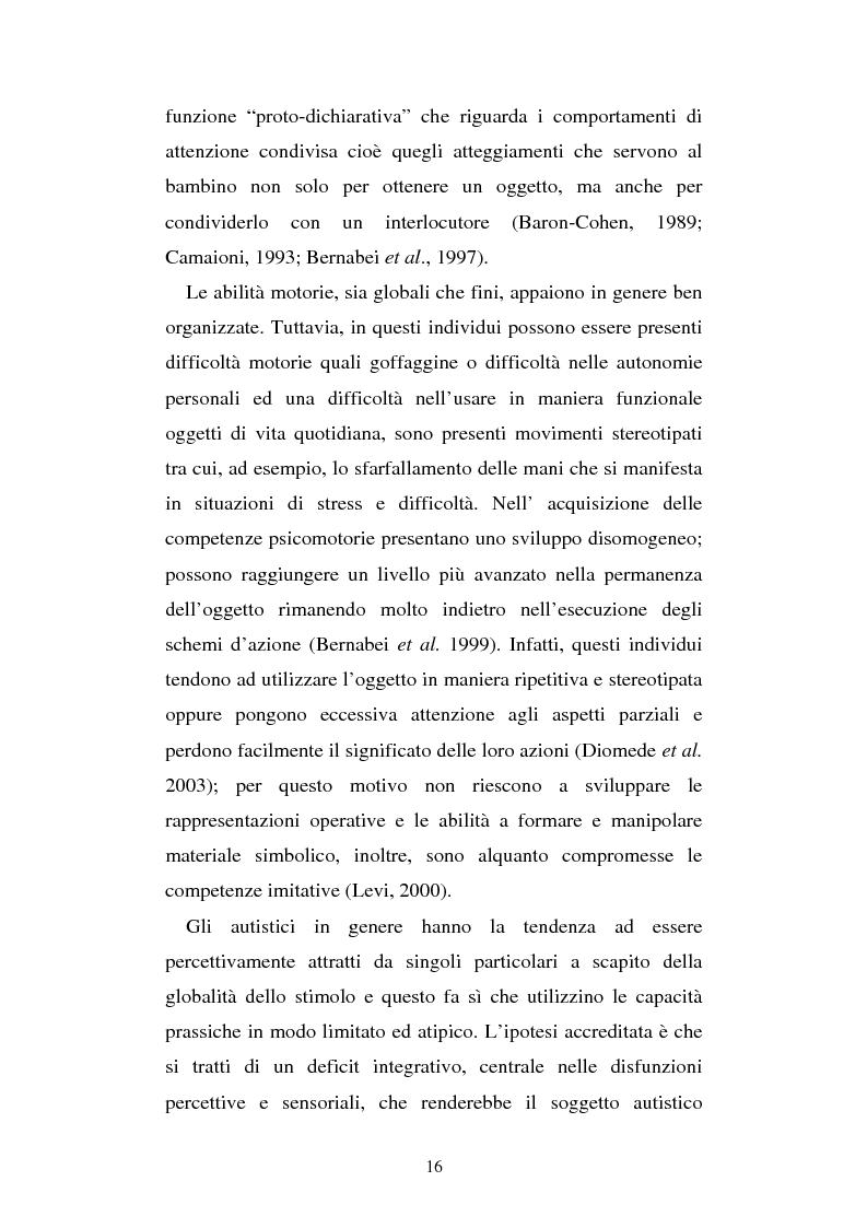Anteprima della tesi: Autismo e gioco - Osservazione e terapia nei bambini con uso della comunicazione verbale, Pagina 12