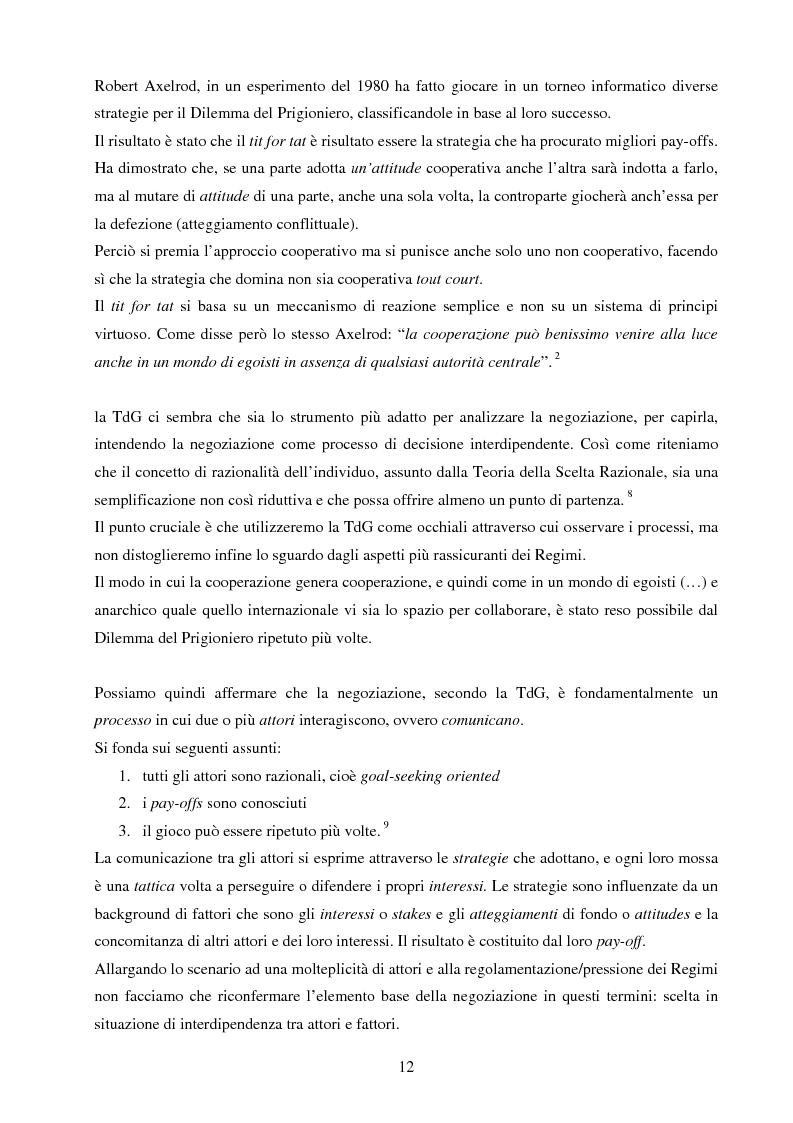 Anteprima della tesi: La negoziazione preventiva - Approccio strategico e teoria dei giochi, Pagina 10