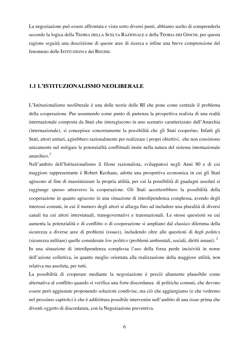 Anteprima della tesi: La negoziazione preventiva - Approccio strategico e teoria dei giochi, Pagina 4