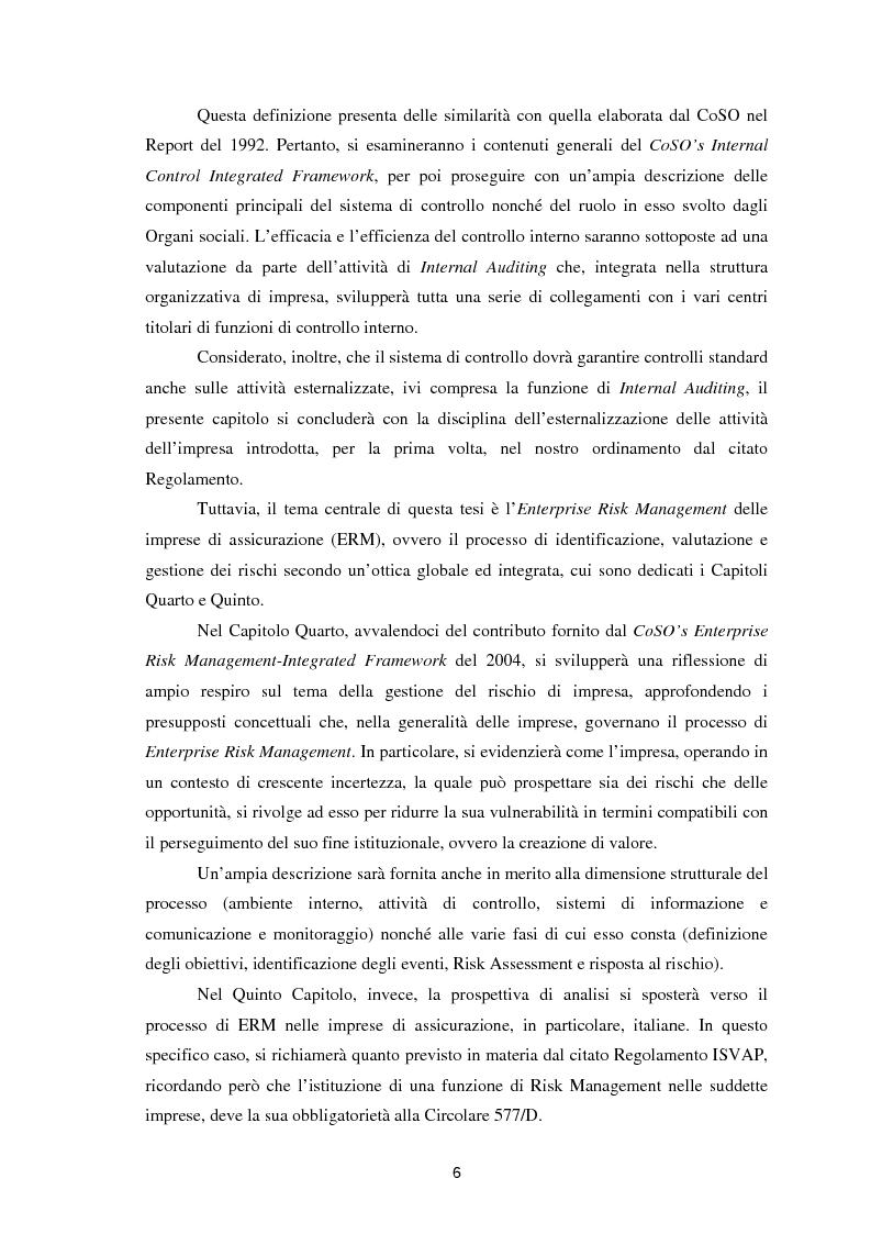 Anteprima della tesi: Enterprise Risk Management in campo assicurativo alla luce di Solvency II, Pagina 3