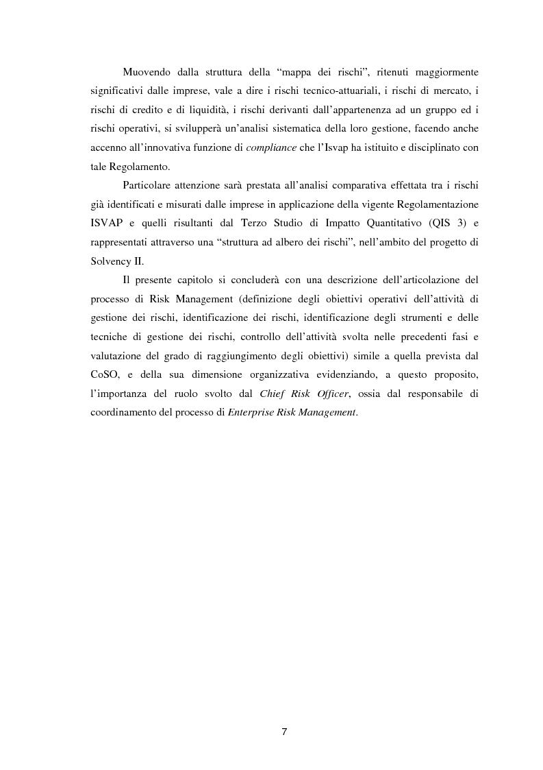 Anteprima della tesi: Enterprise Risk Management in campo assicurativo alla luce di Solvency II, Pagina 4