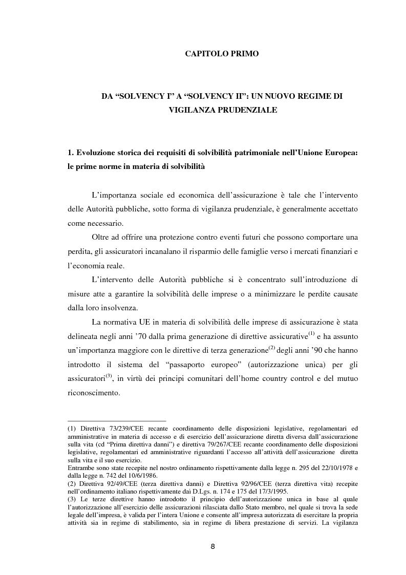 Anteprima della tesi: Enterprise Risk Management in campo assicurativo alla luce di Solvency II, Pagina 5