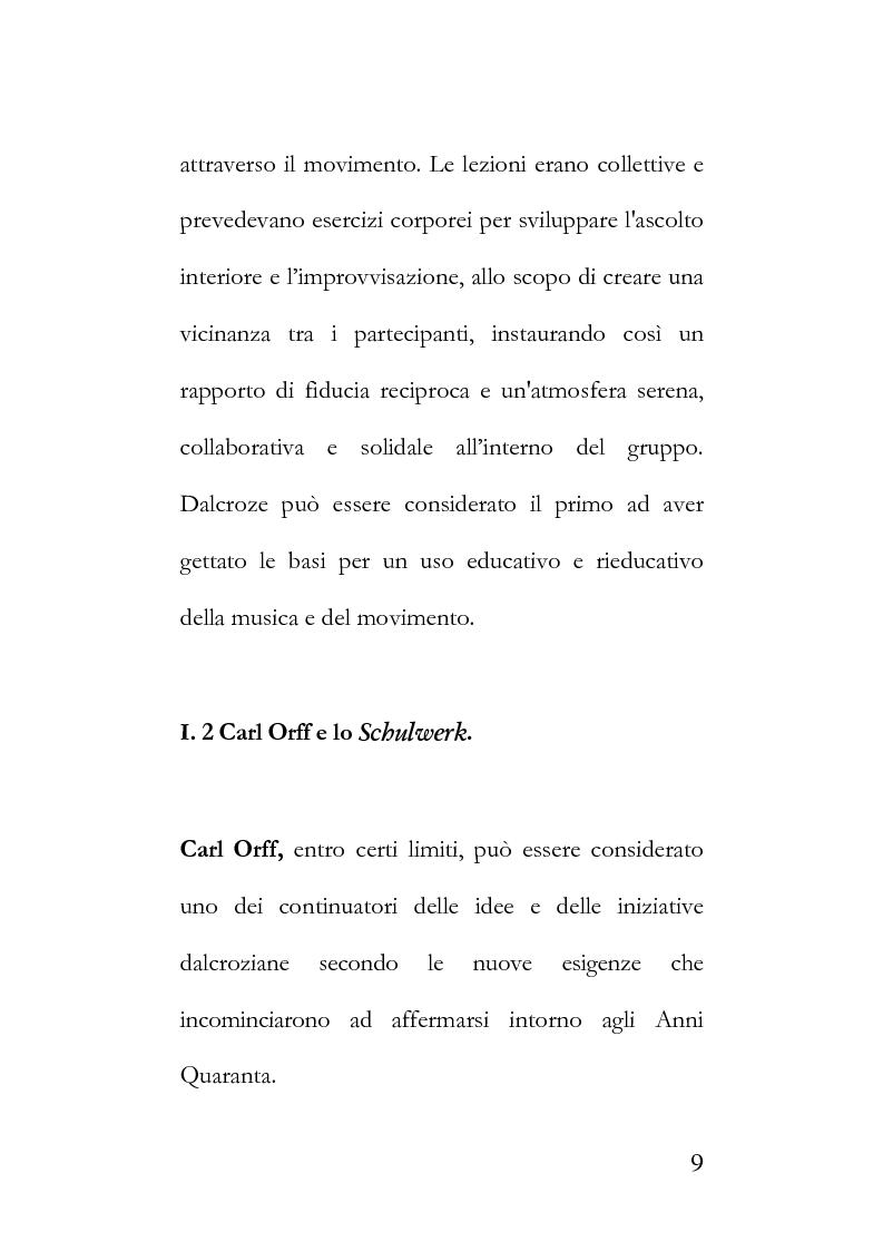 Anteprima della tesi: La metodologia Orff-Schulwerk e il ruolo formativo del linguaggio musicale nell'era del virtuale, secondo i parametri applicativi del [WGS]. Proposta di un approccio multisensoriale ed interattivo alla formazione., Pagina 5