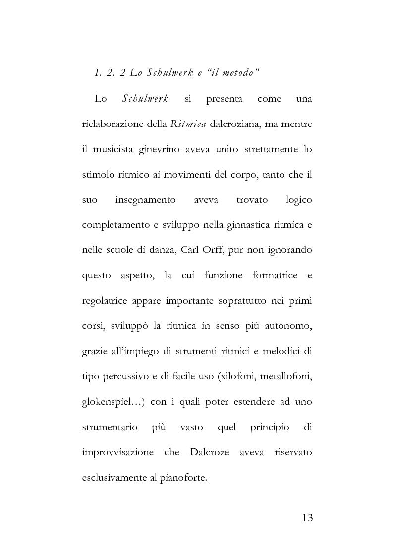 Anteprima della tesi: La metodologia Orff-Schulwerk e il ruolo formativo del linguaggio musicale nell'era del virtuale, secondo i parametri applicativi del [WGS]. Proposta di un approccio multisensoriale ed interattivo alla formazione., Pagina 9
