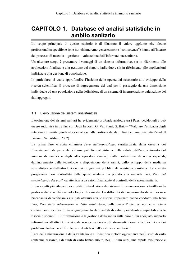 Anteprima della tesi: Progettazione e realizzazione di database di tipo medico a supporto del miglioramento nella diagnosi di una patologia, Pagina 4