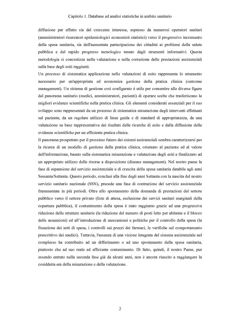Anteprima della tesi: Progettazione e realizzazione di database di tipo medico a supporto del miglioramento nella diagnosi di una patologia, Pagina 5