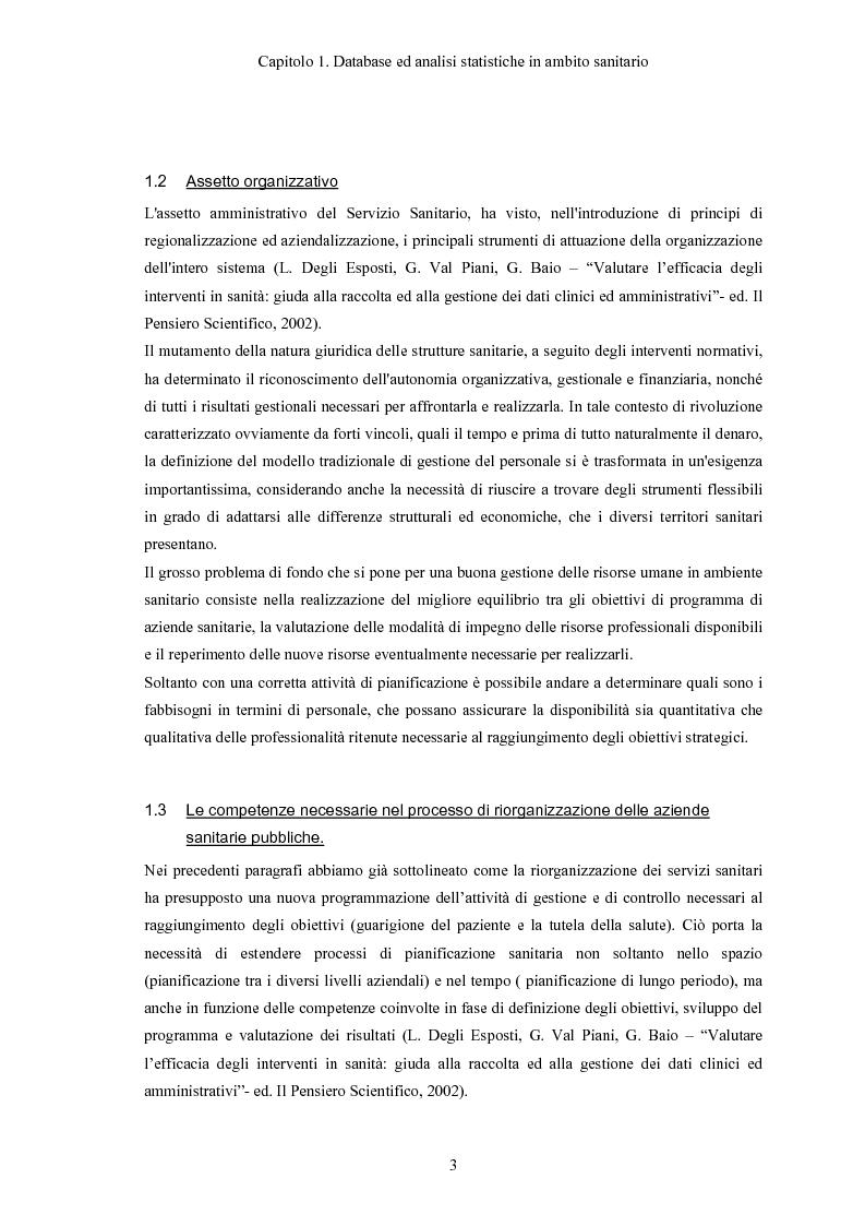 Anteprima della tesi: Progettazione e realizzazione di database di tipo medico a supporto del miglioramento nella diagnosi di una patologia, Pagina 6