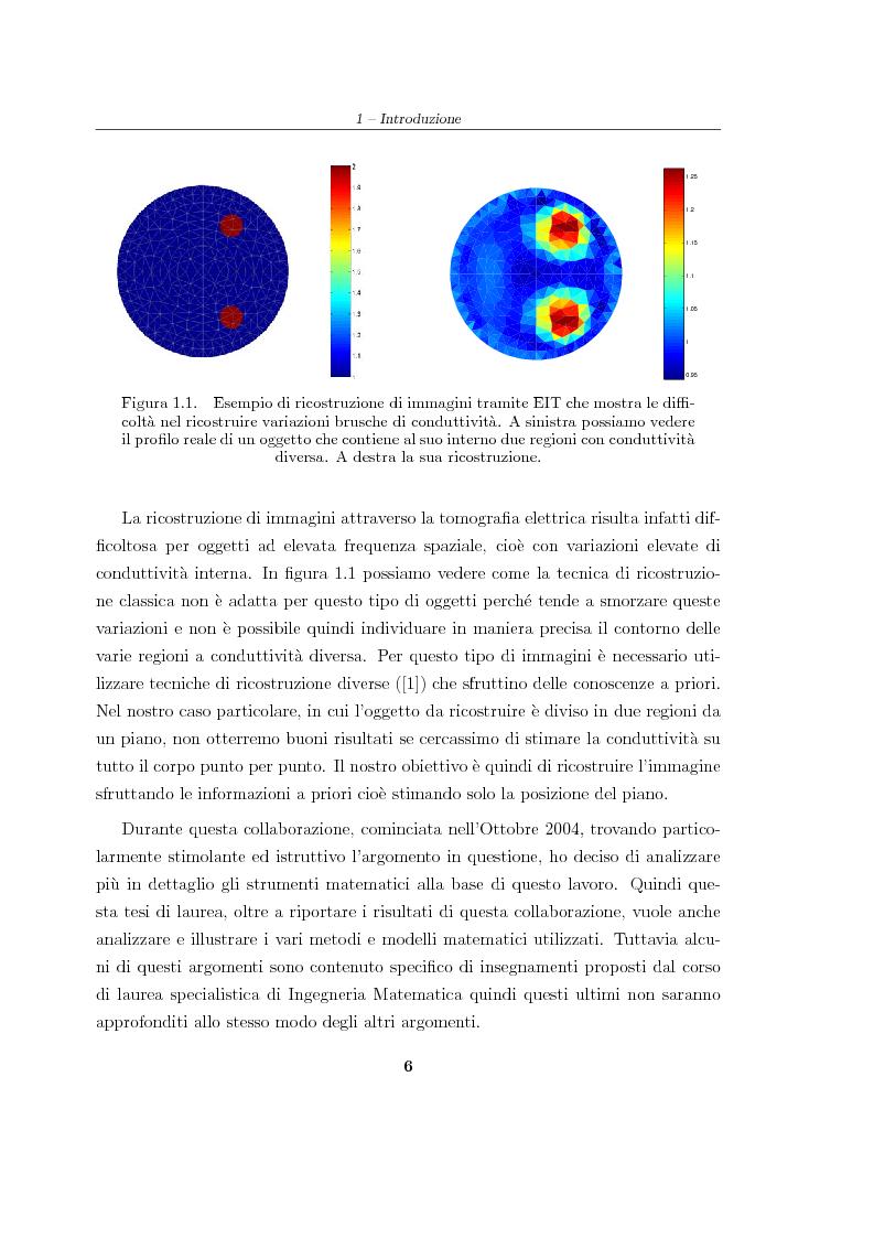 Anteprima della tesi: Analisi e risoluzione numerica di un problema inverso di conduttività elettrica, Pagina 2