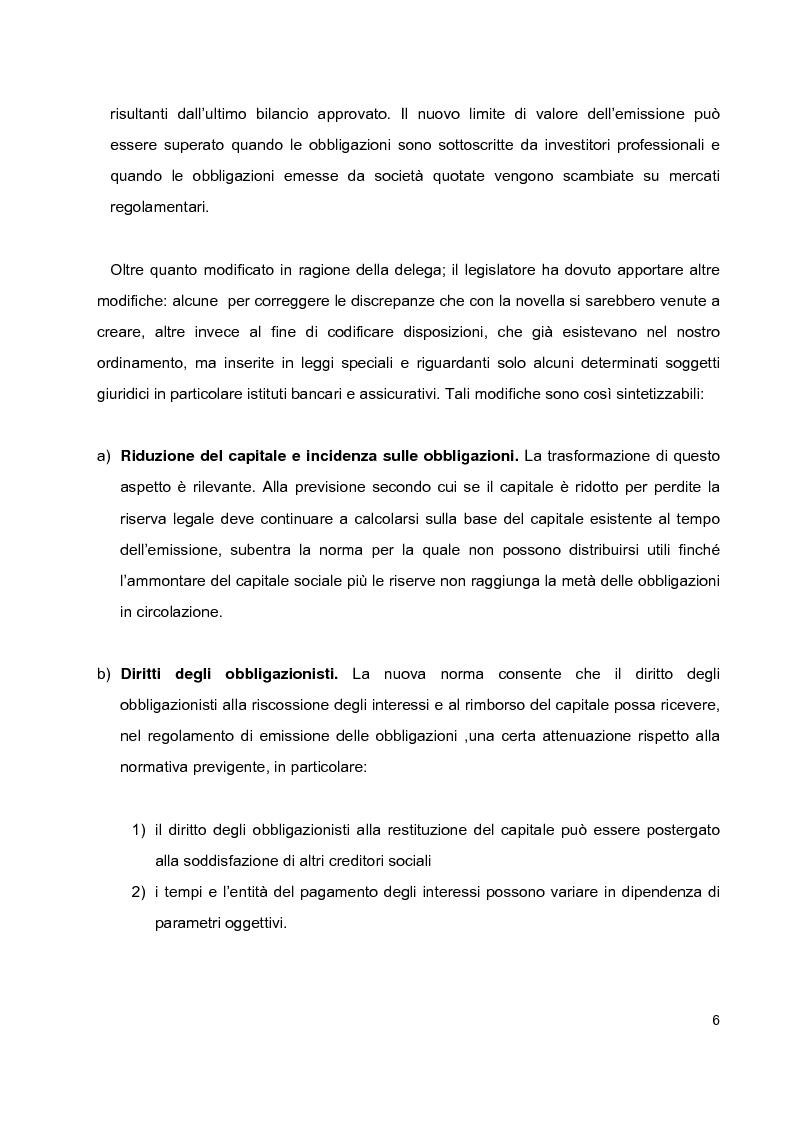 Anteprima della tesi: Prestiti obbligazionari prima e dopo la riforma del diritto commerciale, Pagina 2