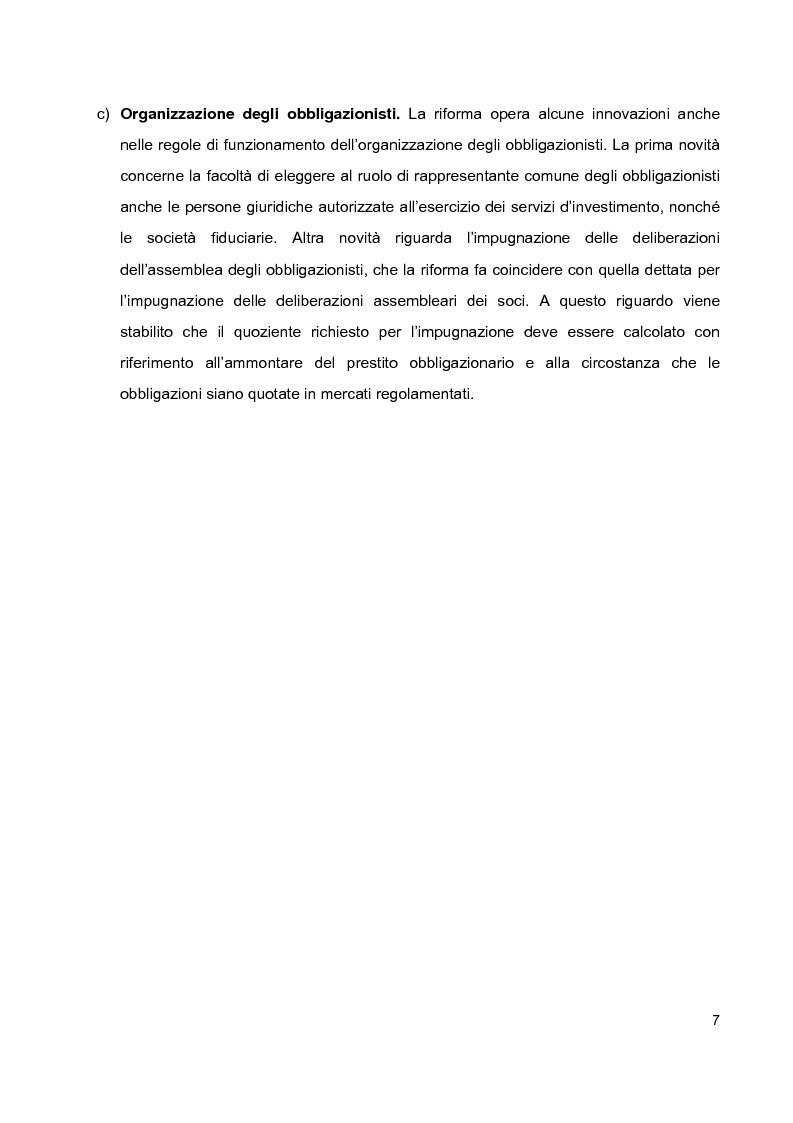 Anteprima della tesi: Prestiti obbligazionari prima e dopo la riforma del diritto commerciale, Pagina 3