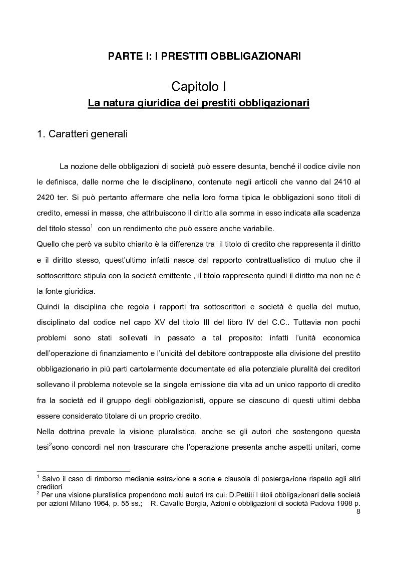 Anteprima della tesi: Prestiti obbligazionari prima e dopo la riforma del diritto commerciale, Pagina 4