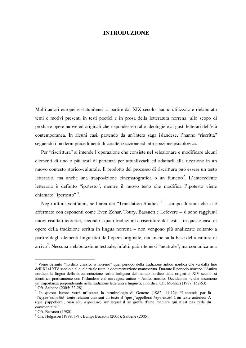 Anteprima della tesi: La ricezione e la rielaborazione delle saghe islandesi tra XIX e XX secolo in Inghilterra e negli Stati Uniti: il caso della Grettis saga, Pagina 1