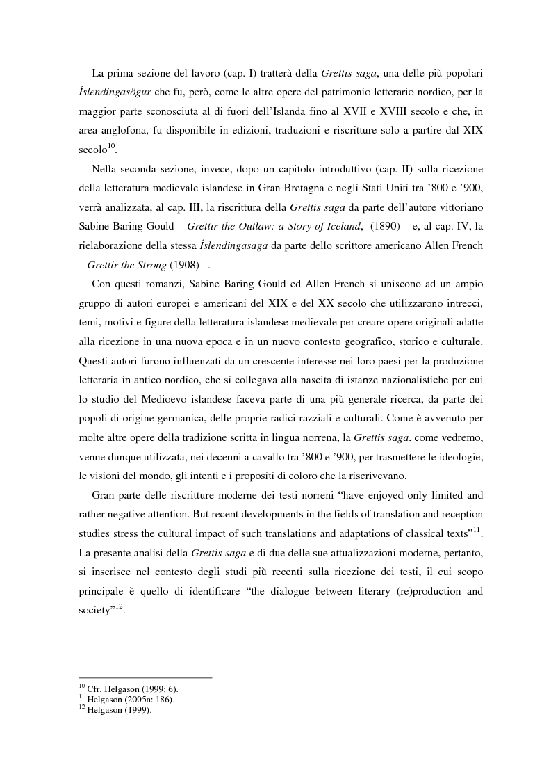 Anteprima della tesi: La ricezione e la rielaborazione delle saghe islandesi tra XIX e XX secolo in Inghilterra e negli Stati Uniti: il caso della Grettis saga, Pagina 3