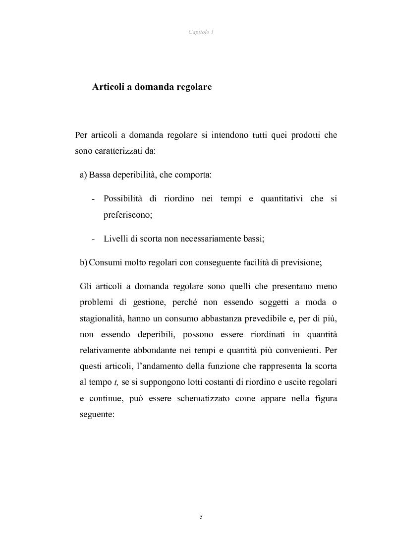 Anteprima della tesi: Verifica di applicabilità della formula di Hadley & Whitin per il dimensionamento della scorta di sicurezza al caso di codici con domanda sporadica ed analisi di un modello alternativo, Pagina 5