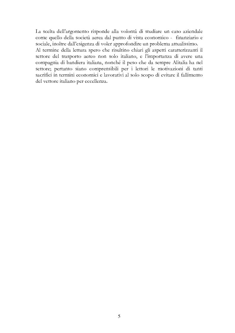 Anteprima della tesi: Alitalia nel trasporto aereo europeo, Pagina 2