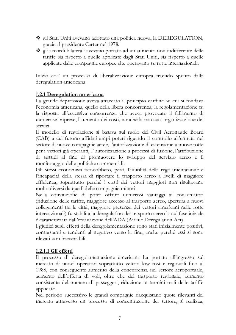 Anteprima della tesi: Alitalia nel trasporto aereo europeo, Pagina 4
