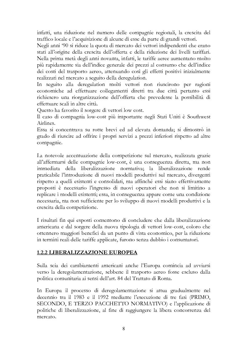 Anteprima della tesi: Alitalia nel trasporto aereo europeo, Pagina 5