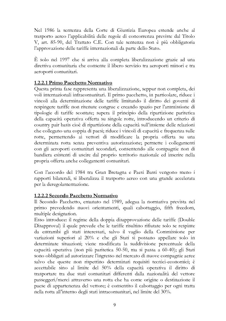 Anteprima della tesi: Alitalia nel trasporto aereo europeo, Pagina 6