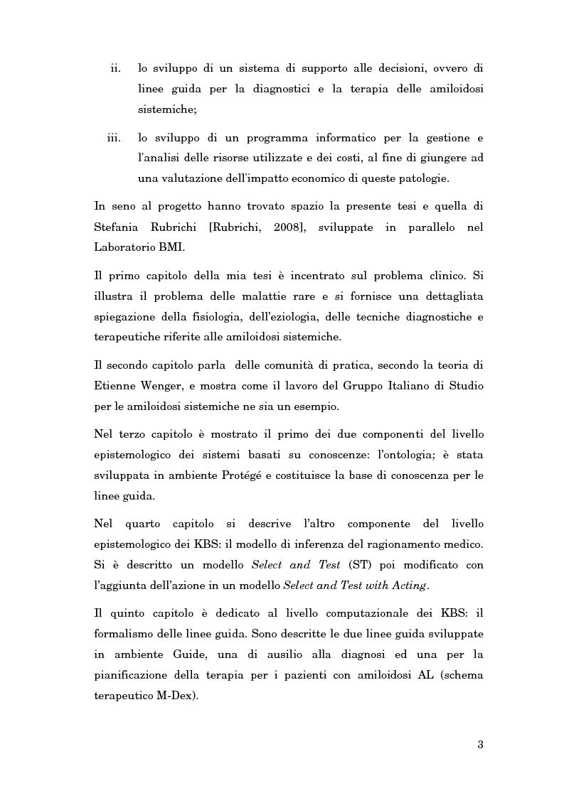 Anteprima della tesi: La gestione delle conoscenze in una rete nazionale di esperti: l'amiloidosi, Pagina 2