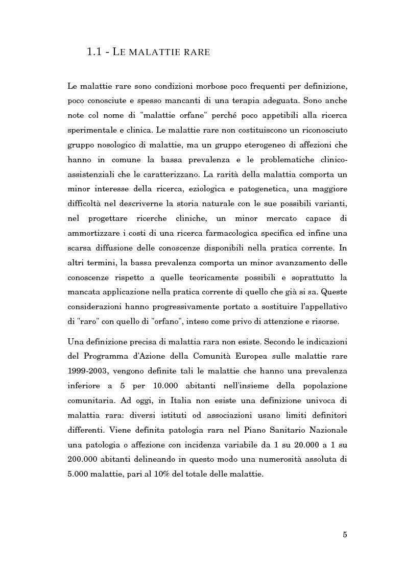 Anteprima della tesi: La gestione delle conoscenze in una rete nazionale di esperti: l'amiloidosi, Pagina 4