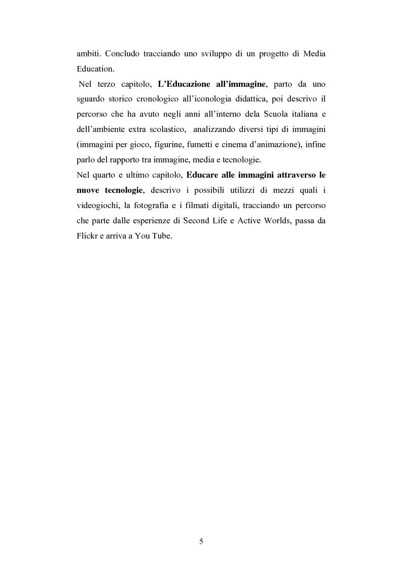 Anteprima della tesi: Nuove tecnologie e immagine: educare nell'era digitale tra You Tube e Second Life, Pagina 3