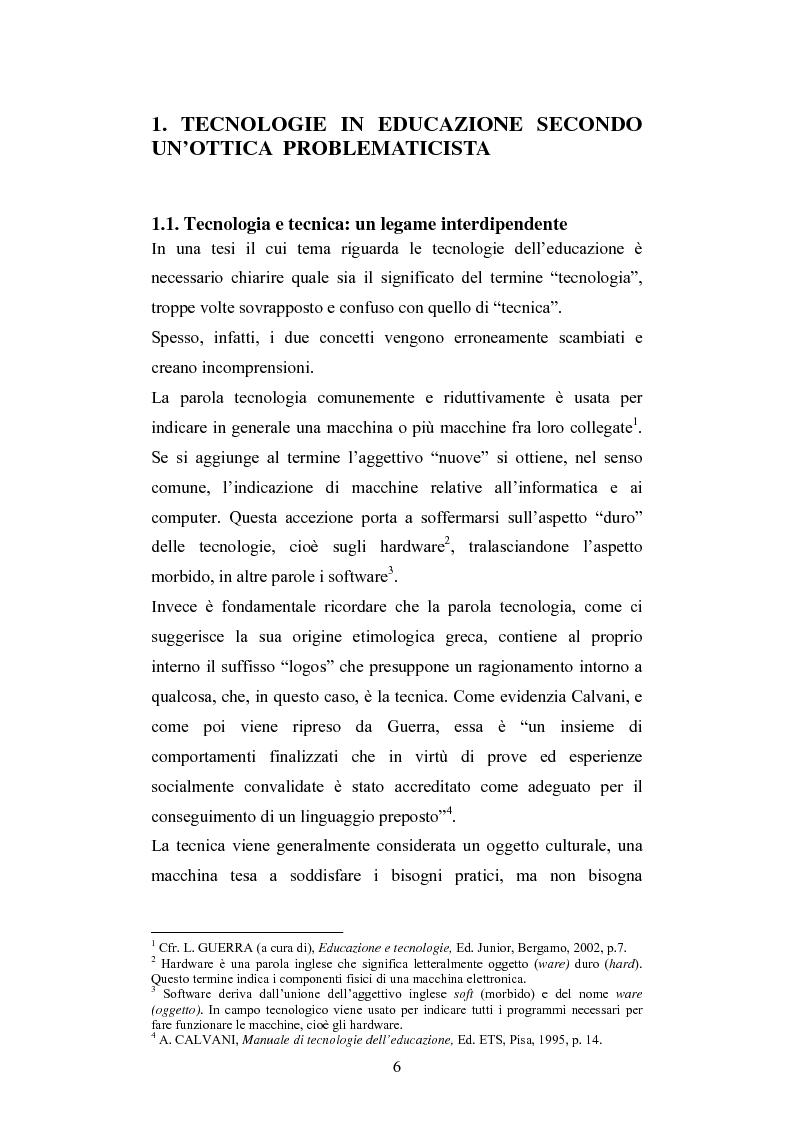 Anteprima della tesi: Nuove tecnologie e immagine: educare nell'era digitale tra You Tube e Second Life, Pagina 4