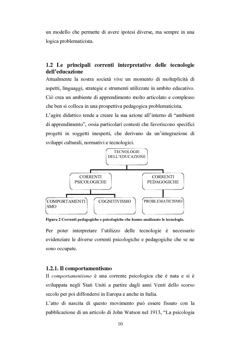 Anteprima della tesi: Nuove tecnologie e immagine: educare nell'era digitale tra You Tube e Second Life, Pagina 8
