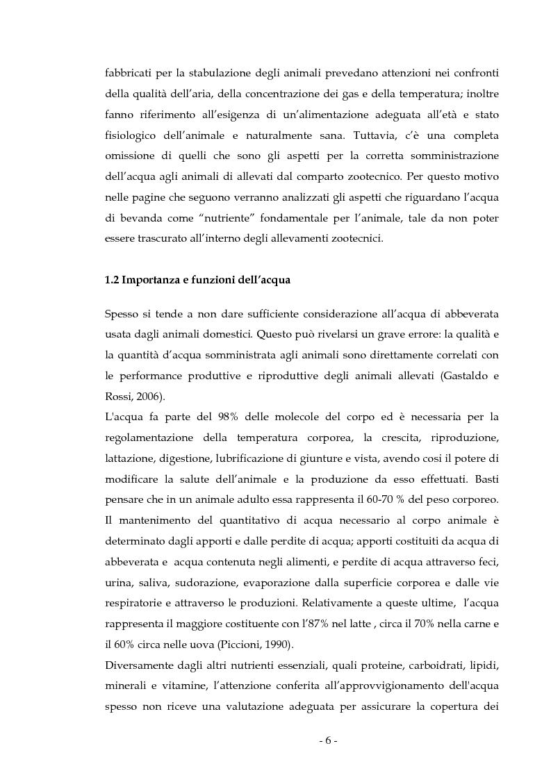 Anteprima della tesi: Composizione dell'acqua di abbeverata in allevamenti della Sardegna e possibile impatto sulle performance animali, Pagina 2