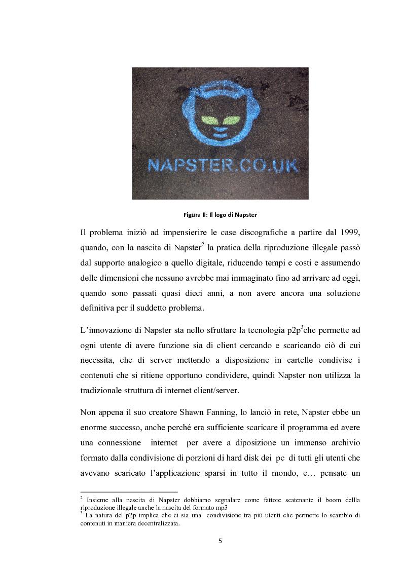 Anteprima della tesi: La social music: la fruizione musicale dal file sharing al social networking, Pagina 3